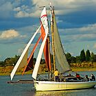 sailing Boat At Maldon by Thasan