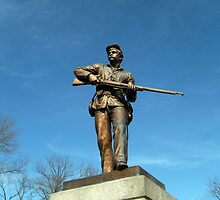 Union Solider, Gettysburg Battlefield National Park, PA USA by Jane Neill-Hancock