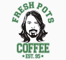 DAVE GROHL FRESH POTS COFFEE T-SHIRT (new) by FRESHPOTS