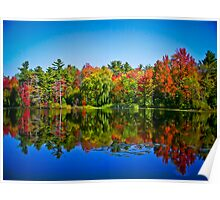 Peak Fall Colors Reflected on a Blue Lake Poster