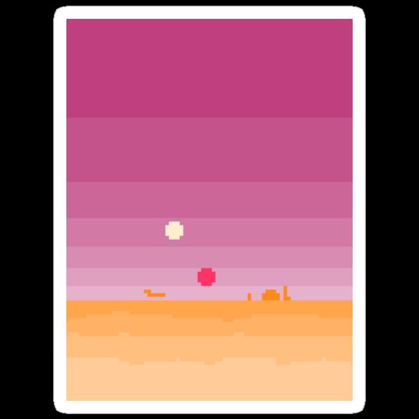 Pixel Tatooine Landscape by PixelBlock