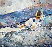 Sailing - Leading The Race - Boats Art Gallery by Ballet Dance-Artist