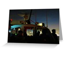Midnight Water Taxi Greeting Card