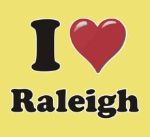 I Heart / Love Raleigh by HighDesign