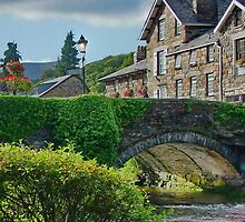 The Bridge in BeddGelert North Wales UK by AnnDixon