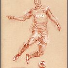 Danny Welbeck - pastel sketch drawing by Paulette Farrell