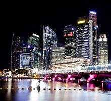 Esplanade Bridge By Night by RickyMoorePhoto