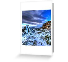 Bruny Island from Mt Wellington Hobart Greeting Card