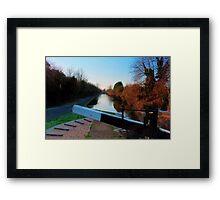 Canalside, Worcester Framed Print