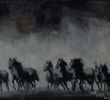 Raging - Horse Painting by Khairzul MG