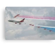Virgin Atlantic & The Red Arrows Canvas Print