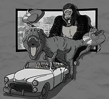 Panic at the 3D drive-in cinema. by J.C. Maziu