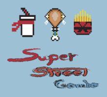 Super 8bit Super combo(text) Kids Clothes