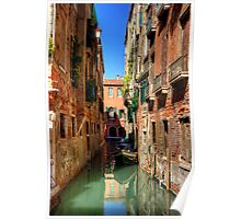A canal in Sestiere di San Polo Poster