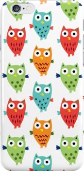 Owl Fun 3G  4G  4s case by Andi Bird