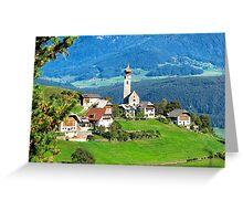 South Tyrolean Hamlet #2 Greeting Card