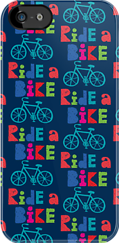 Ride a Bike Sketchy navy 3G  4G  4s iPhone case   by Andi Bird