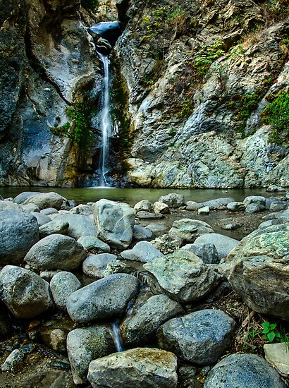 Waterfall and Rocks by jswolfphoto