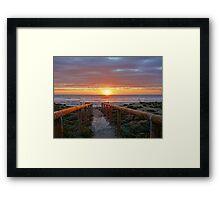 Aldinga Silver Sands Beach (Sunset) Framed Print