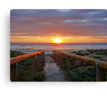 Aldinga Silver Sands Beach (Sunset) Canvas Print