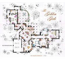 The Golden Girls House floorplan v.1 Photographic Print
