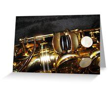 The Golden Tone - Sax Magic Greeting Card