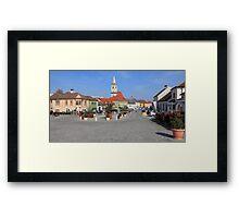 Town square Framed Print