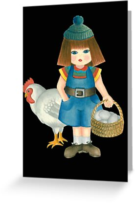 doll and chicken by laurina