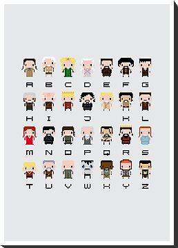 Game of Thrones Alphabet by Sergei Vozika
