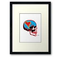 Skull_15 is part of a series on Love Never Dies... Framed Print