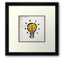 Bright Ideas Stencil Graffiti Framed Print