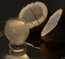 Coconut Milk on a silver platter by Nicole W.