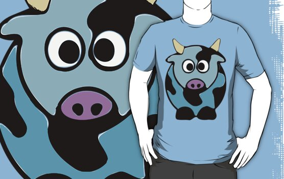 ღ°㋡Cute Baby Blue Cow Clothing & Stickers㋡ღ° by Fantabulous