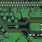 Circuit board details by Jeff Knapp