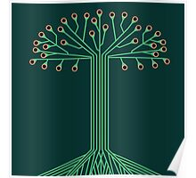 Circuit board tree Poster