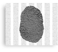 Fingerprint over binary numbers Canvas Print