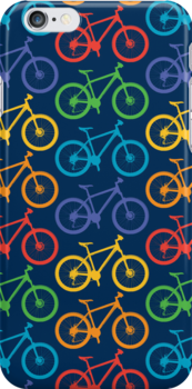 Ride a Bike Marin navy 3G  4G  4s iPhone case  by Andi Bird