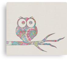 Owl pirch Canvas Print