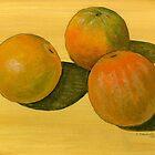 Three organic oranges by bernzweig