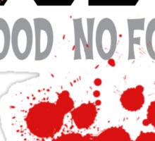 """Rugby """"No Blood No Fowl"""" Sticker"""