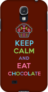 Keep Calm and Eat Chocolate 3G  4G  4s iPhone case  by Andi Bird