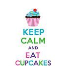 Keep Calm and Eat Cupcakes 2   3G  4G  4s iPhone case  by Andi Bird