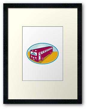 vintage coach bus shuttle retro by retrovectors