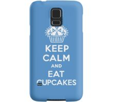 Keep Calm and Eat Cupcakes blue 3G  4G  4s iPhone case  Samsung Galaxy Case/Skin