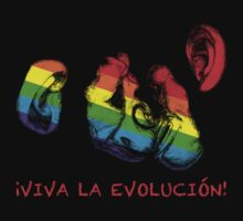 viva la evolucion! rainbow chimps by chromatosis