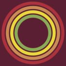 retro rainbow circles by chromatosis