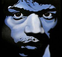 Jimi Hendrix portrait by Mario Senica by HOLOgraf