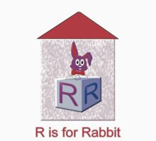 R is for Rabbit T-shirt by Dennis Melling