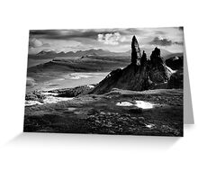 The Old Man of Storr (mono) Greeting Card