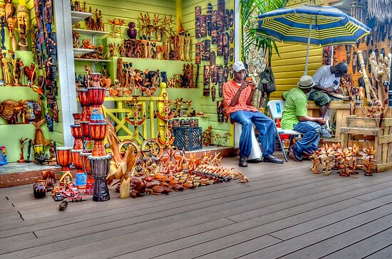 Craft Vendors at the Straw Market in Nassau, The Bahamas by 242Digital